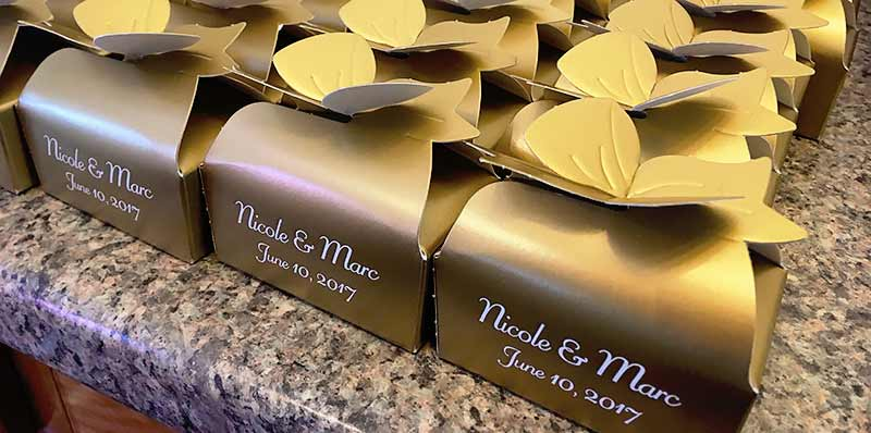 Custom Boxed Chocolate Favor