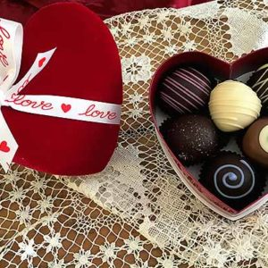 6pc Valentines Day Chocolate Truffle Gift