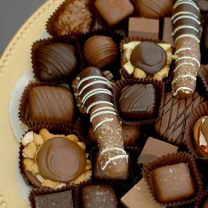 Plate of Assorted Chocolates